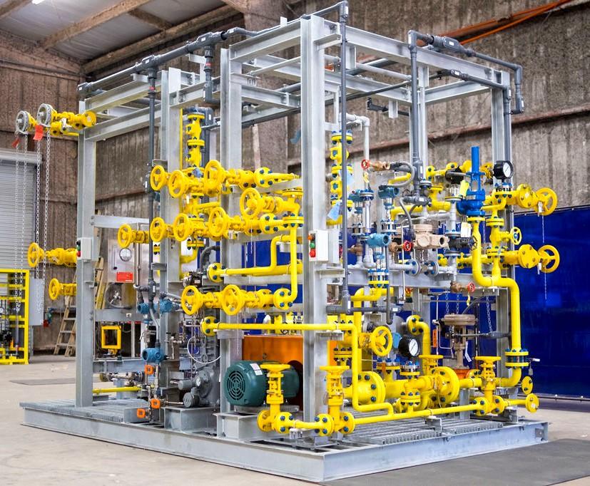 chlorine pump skid